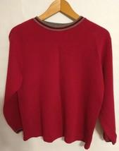 GAP Women's Sweater Size Medium Red 3/4 Sleeve Casual - $9.75