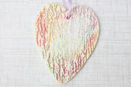 Rainbow Heart Ornament, Watercolor Heart Ornament, Heart Wall Decor - Ha... - $18.99