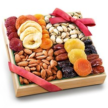 Pacific Coast Classic Dried Fruit Tray Gift with Almonds and Pistachios for Holi