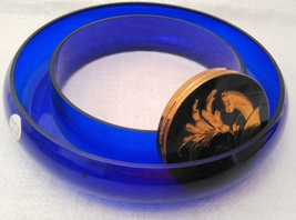Cobalt Glass Posy / Pansy Ring Vase VERY RARE! image 9