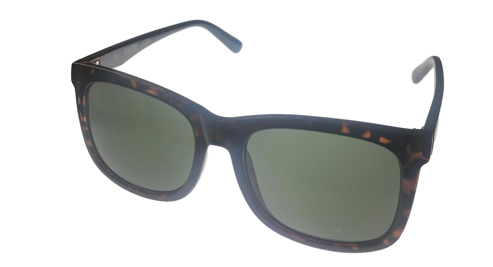 Kenneth Cole Reaction Mens Soft Square Shiny Tortoise Sunglass KC1324 52N image 1