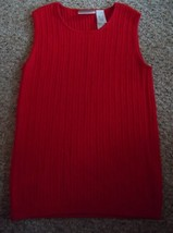 NWOT Red Ribbed Cable Knit LIZ CLAIBORNE Sleeveless Top Ladies SMALL - $9.50