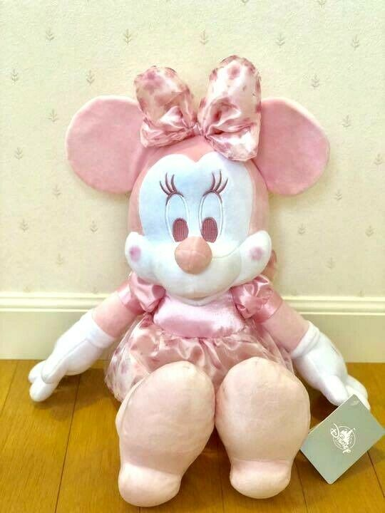 Primary image for Dinsey store Japan SAKURA Minnie Mouse Cherry Blossom Plush doll Large big pink