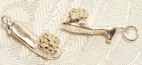 925 Sterling Silver Charm Pendant Woman's High Heel Shoe
