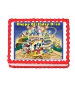Mickey Mouse Disney World Disney Land Edible Cake Image Cake Topper - $8.98+