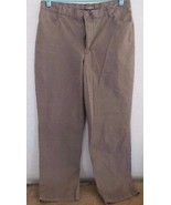 Lee Riders Stretch Brown Zipper Front Casual Pants! Sz 16P! Cotton Blend! - $16.78