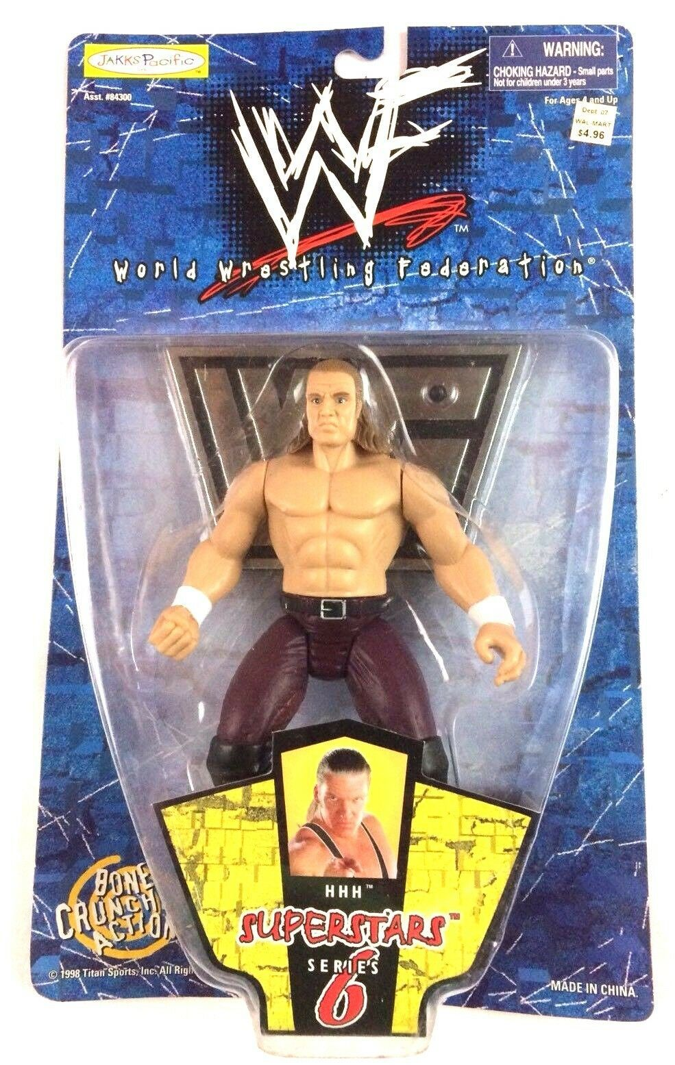 Primary image for Triple H WWF WWE Jakks Action Figure Superstars Series 6 1998 Attitude Era