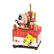 Rolife Hand Crank Music Box Machinarium-DIY Wood Craft Kit-3d Wooden Puz... - $22.23