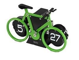 Britz Modern Bicycle Desk Digital Flip Clock Retro Style AA Batteries Operated