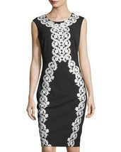 Jax Women's Black with White Floral Dress Size 4 - $62.57