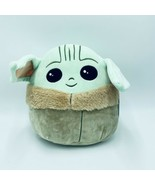 "Squishmallows Baby Yoda 10"" Plush Star Wars Mandalorian Kellytoy NWT - $34.99"