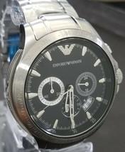 Emporio Armani Men's Chronograph Black Dial Watch AR0636 - Retail $395 (54% off) - $181.00