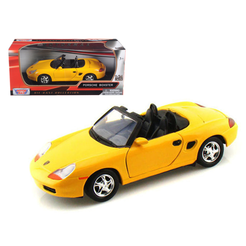 Porsche Boxster Yellow 1/24 Diecast Car Model by Motormax 73226y