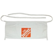 HOME DEPOT WAIST-TIE CANVAS TOOL STORAGE WORK CONSTRUCTION APRON, 2 POCKETS - $2.96