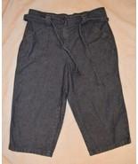 Womens Classic Elements Denim Jean Long Shorts ~ 10P ~ 19 Inseam ~ Belt  - $12.86