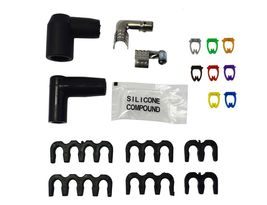 9.5mm Black Silicone High Performance Spark Plug Wire Set Universal Fit V8 V6 image 8