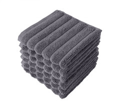 Luxury Hotel Spa Towel Plush Cotton Bath Towel Rib Style Wash Cloths 6 S... - $22.19