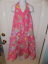 TALBOTS KIDS  Coral Floral Tiered Halter Dress Size 20 Girl's EUC - $17.94