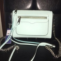 NWT Rebecca Minkoff Avery Saffiano Leather Crossbody Bag Mint - $118.75