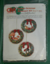 "Columbia Minerva Kit, Furry Friends Ornaments, unopened, Three 4"" diam. - $7.84"