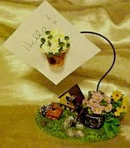 Recipe Note Memo Card Stand Holder Bird House Flower Garden Figural - $9.85