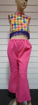 "Girls 70's Costume - ""Hot Lips"" top & Flares - 128cm , age 7/8 - $20.66"