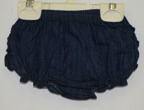RuffleButts RBDMB030000 Faux Denim Knit RuffleButt Bloomer Size 3 to 6 Months