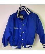 Mesabi Humane Society Butwin Mens Bomber Jacket Blue Snap Pockets Collar... - £21.13 GBP