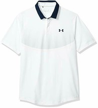 Under Armour Men's Iso-Chill Graphic Golf Polo, White (100)/Academy, Small - $62.36