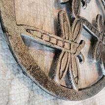 Cast Iron Trivet, Dragonfly Design, Metal Hot Mat, Pot Mat, Dragonflies Decor image 5