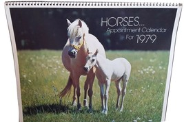 Vintage Gibson Greeting Cards Horse Calendar 1979 - $3.00