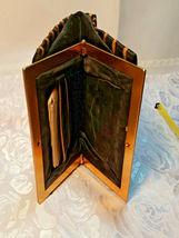 Vintage Black w/ Gold Square Design Evening Clutch Purse W/ Original Mirror image 7