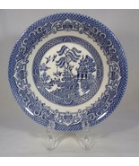 """Bowl Cereal Soup Blue Willow - Ceramic 6 3/8"""" Across Marked England Vintage - $4.46"""