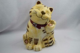 """GKAO Smiling Scratching Cat Cookie Jar 11"""" Tall - $90.00"""
