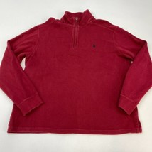 Polo Ralph Lauren Quarter Zip Sweater Men's Large Long Sleeve Red Knit C... - $22.95