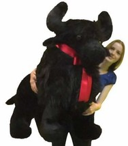 American Made Riese Plüsch Schwarz Buffalo 112cm Weich Big Plush Tier- M... - $176.43