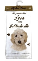 GOLDENDOODLE  DOG COTTON KITCHEN DISH TOWEL - $9.99