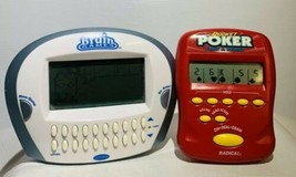 Radica Electronic Handheld Games Lot of 2 Pocket Poker And Brain Games - $19.52