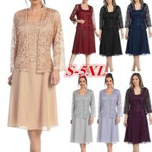 Women Fashion Long Sleeve O neck Lace Patchwork Pure Color Elegant Chiff... - $26.00