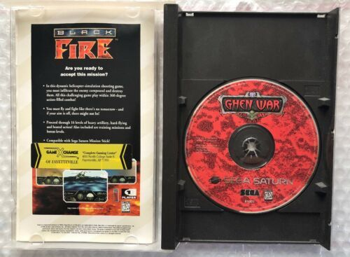 ☆ Ghen War (Sega Saturn 1995) AUTHENTIC Complete in Case Game Tested Works ☆