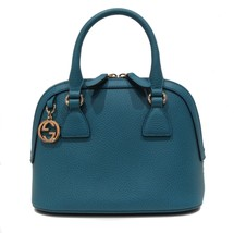 GUCCI 449661 Interlocking G Convertible Mini Dome Leather Handbag, Deep ... - $568.65