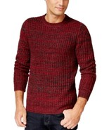 Club Room Men's Red Anthem Marled Textured Crewneck Knit Pullover Sweater - $26.99