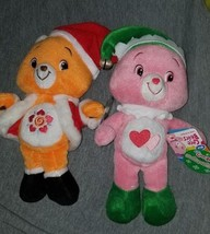 "Care Bears 2007 9"" Holiday Friends Amigo Bear & Love a-lot Bear New with... - $29.70"