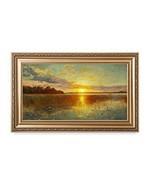 DECORARTS - Sunset Over a Danish Fjord, Peder Mork Monsted Art Reproduct... - $157.68