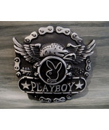 PLAYBOY BUNNY Belt Buckle Souvenir Collector EAGLE Rabbit CHAINS Collect... - $14.95