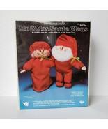 Vintage Valiant Christmas Mr or Mrs Santa Claus Soft Sculpture Doll Craf... - $14.99