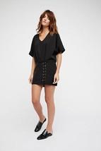 New Free People Harper Mini Dress $128 BLACK Size 6 - $57.42