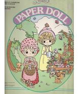 Precious Moments Paper Dolls Precut Fashions 2 Dolls & Fashions Golden P... - $12.00