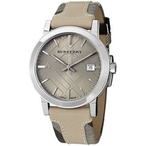 Burberry BU9021 Large Check Swiss Made Leather Womens Watch - $198.00