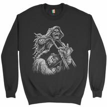 Reaper Biker Sweatshirt Ride or Die Skeleton Biker Forever Motorcycle Cr... - $19.32+